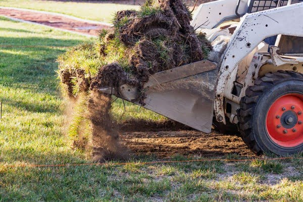 Grading and leveling (skid steer usage)