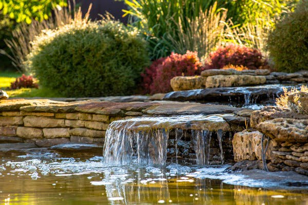 landscape illumination in a water feature